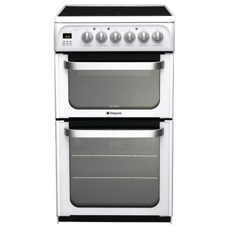 Hotpoint HUE52PS 50cm ULTIMA Electric Cooker in White D Oven Ceramic