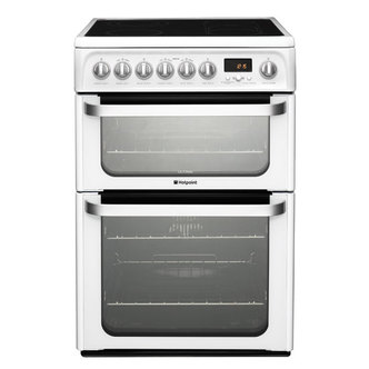Hotpoint HUE62PS 60cm ULTIMA Electric Cooker in White D Oven Ceramic