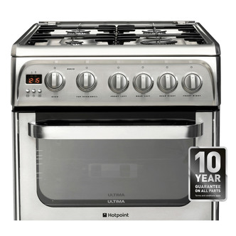 Hotpoint HUG52X 50cm ULTIMA Gas Cooker in St Steel Double Oven A Rated