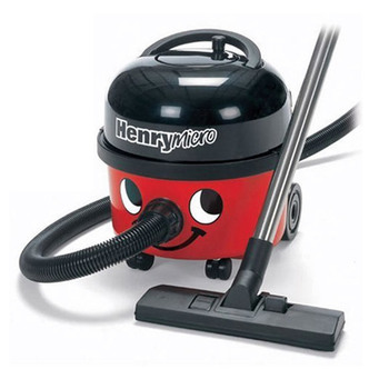Numatic HVR200M 22 HENRY Microtex Vacuum Cleaner in Red 2 Year Gtee