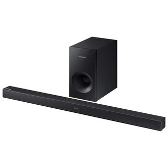 Samsung HW K360 2 1Ch Flat Soundbar Wireless Subwoofer in Black