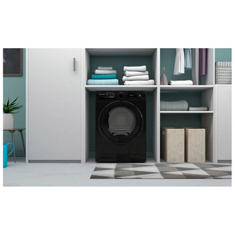 Indesit I3D81BUK 8kg Condenser Tumble Dryer in Black B Rated