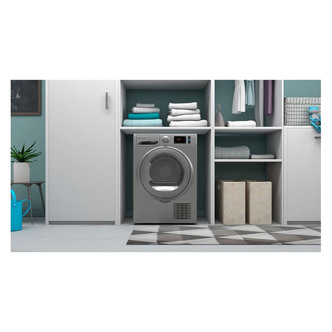 Indesit I3D81SUK 8kg Condenser Tumble Dryer in Silver B Rated