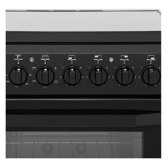 Indesit I5VSHK 50cm Single Oven Electric Cooker in Black Ceramic Hob