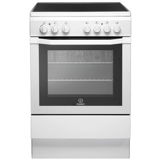 indesit i6vv2aw 60cm single cavity electric cooker ceramic in white