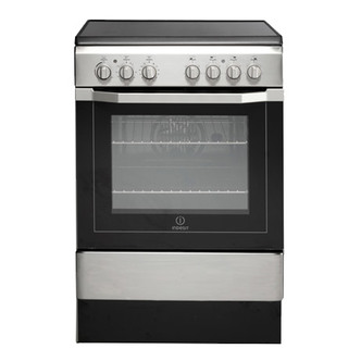 Indesit I6VV2AX 60cm Single Cavity Electric Cooker Ceramic in St Steel