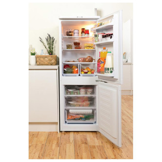 Indesit IBD5515W Fridge Freezer in White 1 57m W55cm A Rated