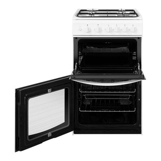 Indesit ID5G00KMW 50cm Twin Cavity Gas Cooker in White A Rated
