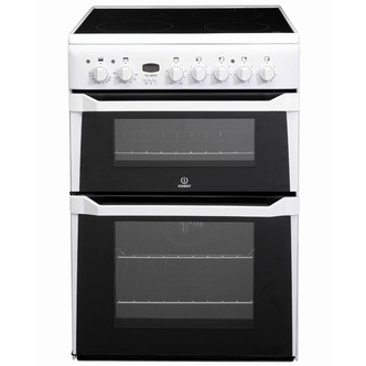 Indesit ID60C2WS 60cm Electric Cooker in White Double Oven Ceramic Hob