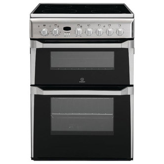 Indesit ID60C2XS 60cm Electric Cooker in St Steel D Oven Ceramic Hob