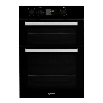 Indesit IDD6340BL Built In Electric Double Oven in Black