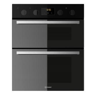 Indesit IDU6340BL 60cm Built Under Double Electric Oven in Black