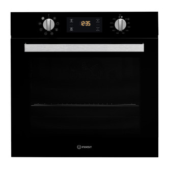 indesit ifw6340bl aria built in single fan oven in black 66l a rated