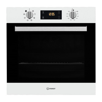 indesit ifw6340wh aria built in single fan oven in white 66l a rated