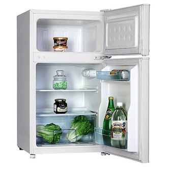 Iceking IK2022AP2 48cm 2 Door Undercounter Fridge Freezer White F Rate