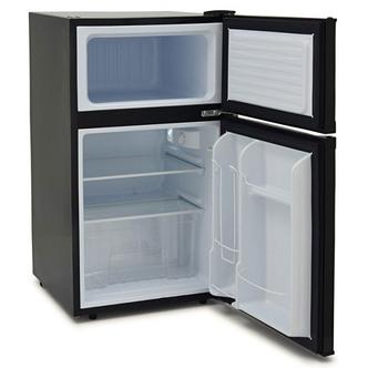 Iceking IK2023K 48cm 2 Door Undercounter Fridge Freezer Black F Rated