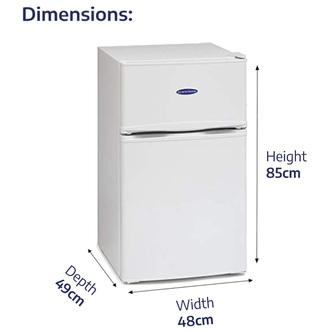 Iceking IK2023W 48cm 2 Door Undercounter Fridge Freezer White F Rated