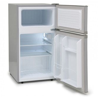 Iceking IK2024S 48cm 2 Door Undercounter Fridge Freezer Silver F Rated