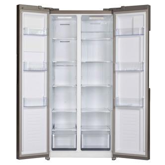 Iceking IK436 K E American Fridge Freezer in Black 1 78m F Rated