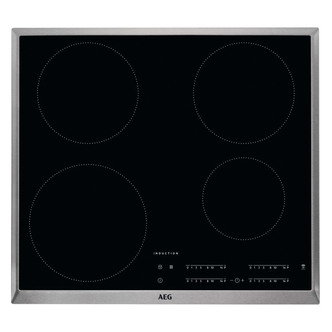 Image of AEG IKB64401XB 60cm Built In Induction Hob in Black Glass