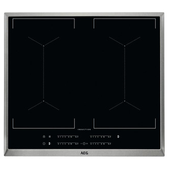 Image of AEG IKE64450XB 60cm Built In Induction Hob in Black Glass St Steel