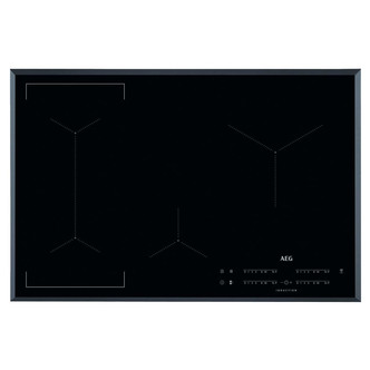 AEG IKE84441FB 80cm 4 Zone Maxisense Induction Hob in Black Hob2Hood
