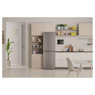 Indesit INFC850TI1S1 60cm Frost Free Fridge Freezer in Silver 1 89m F
