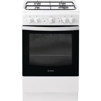 Indesit IS5G1KMW 50cm Gas Cooker in White Single Oven FSD