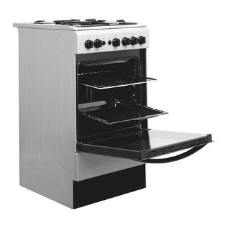 Indesit IS5G1PMSS 50cm Gas Cooker in Silver Single Oven FSD