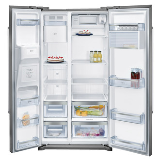 Neff KA3902I20G American Style No Frost Fridge Freezer in St Steel