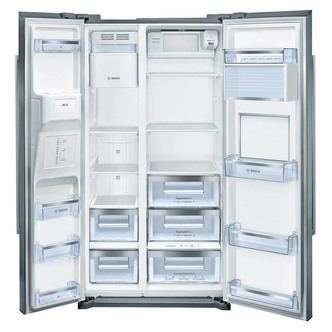 BOSCH KAG90AI20G American-Style Fridge Freezer - Silver
