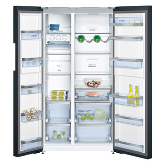 Bosch KAN92LB35 Side by Side Fridge Freezer in Black