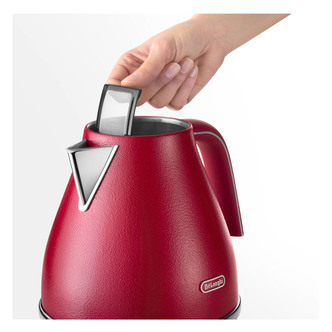 Delonghi KBOE3001 RD Icona Elements Cordless Jug Kettle in Red 1 7L 3
