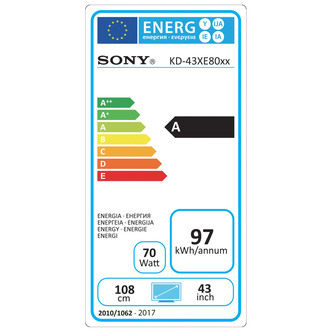 Sony KD43XE8005BU 43 4K HDR Ultra HD Smart Android LED TV 200Hz in Bla