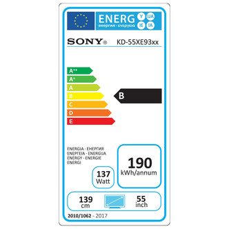 Sony KD55XE9305BU 55 4K HDR Ultra HD Smart Android LED TV 1000Hz Black