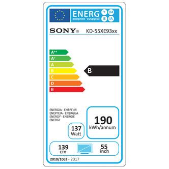 Sony KD65XE9305BU 65 4K HDR Ultra HD Smart Android LED TV 1000Hz Black
