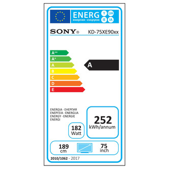 Sony KD75XE9005BU 75 4K HDR Ultra HD Smart Android LED TV 1000Hz Black