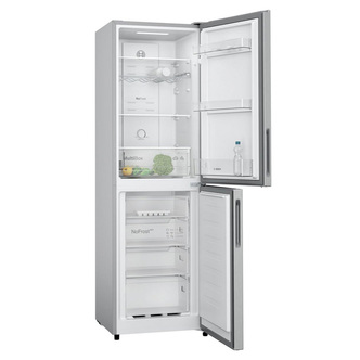 Bosch KGN27NLFAG Frost Free Fridge Freezer in Silver 1 82m F Rated