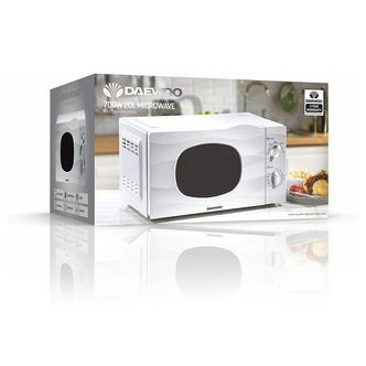 Daewoo KOR6L77 Microwave Oven in White 20L 700W Dial Controls