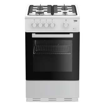 Image of Beko KSG580W 50cm Single Cavity Gas Cooker in White