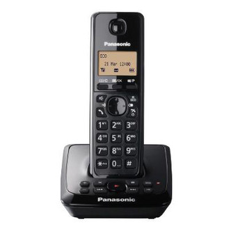 Panasonic KX TG2721EB Single Phone with Answer Phone in Black