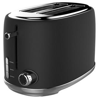 Image of Linsar KY865BLACK 2 Slice Toaster in Black 6 Heat Settings