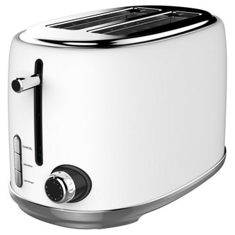 Image of Linsar KY865WHITE 2 Slice Toaster in White 6 Heat Settings