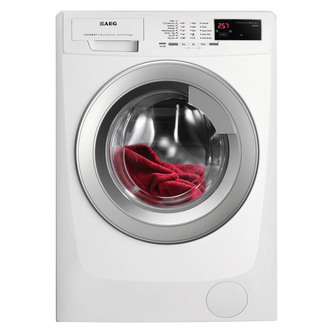 Image of AEG L69680VFL Washing Machine in White 1600rpm 8kg A