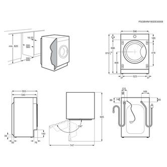 AEG L7FE7461BI 7000 Series Integrated Washing Machine 1400rpm 7kg F