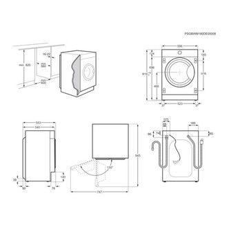 AEG L7WC8632BI 7000 Series Integrated Washer Dryer 1600rpm 8kg 4kg E