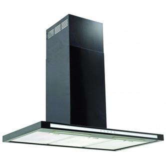 Luxair LA100 FSL BK 100cm FSL Cooker Hood in Black Glass Matt Black