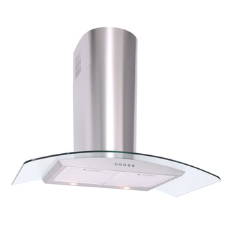 Luxair LA80 CVD SS 80cm CVD CURVED Glass Cooker Hood in Stainless Stee