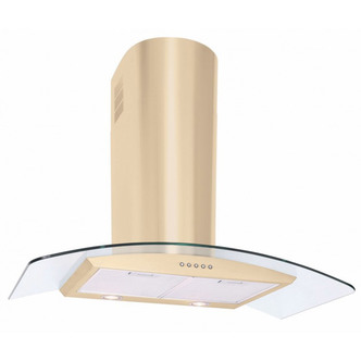 Luxair LA80 CVD IV 80cm CVD CURVED Glass Cooker Hood in Matt Ivory