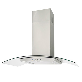 Luxair LA80 VAL SS 80cm VALORE Curved Glass Cooker Hood in Stainless S